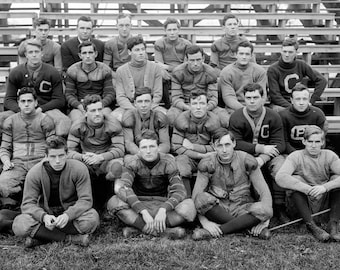 "Georgetown University Football Team, #2 Vintage Photograph 13"" x 19"" Reprint"