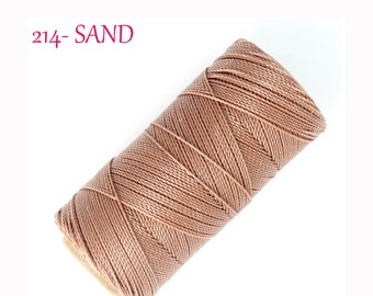 LINHASITA Waxed Polyester Cord for Micro Macrame // 214 SAND