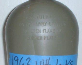 US Army polyethelene 1-Quart canteen dated 1963; Vietnam War era WITH LEAKS