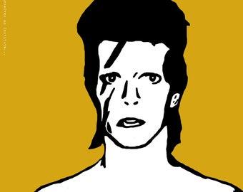 "David Bowie ""Aladdin Sane"" Art Print"