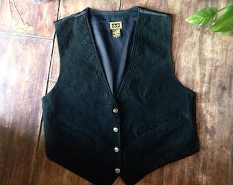 A.J. Suede Leather Vest