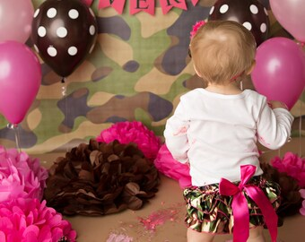 CAMO BIRTHDAY BANNER / 1st birthday girl / Camo 1st birthday / Camo birthday party / Camo baby / Camo baby shower / Camoflauge baby / Banner