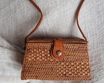 Square Rattan Bag