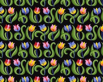 Jane Sassaman Tulips Mexican Spring Fever fabric
