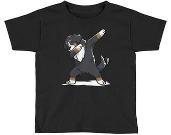 Funny Dabbing Bernese Mountain Dog Kids Short Sleeve T-Shirt