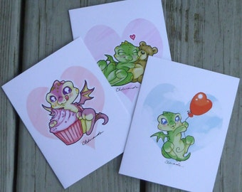 Myxie Dragon Doodle Valentine's Day Cards