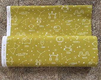 Kokka Star Sign Journey fabric.100% Cotton Canvas.