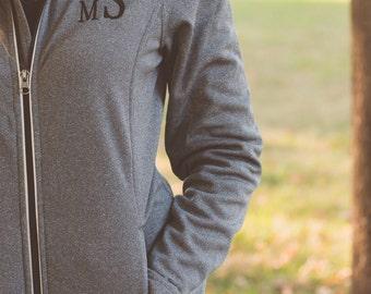 Monogram Jacket | Monogrammed Fleece Jacket | Womens Fleece Jacket | Lightweight Jacket | Gift for Her | Gifts under 50 | Cambridge