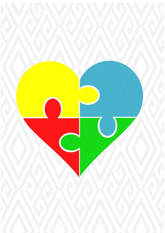 Autism Svg Autism Awareness Svgautism Heart Autism Day T