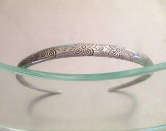 Tribal Silver Bracelet - Thai Silver Bracelet (31)