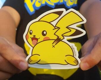 "Pikachu Pokemon Sticker Cute Kawaii 3"" x 3"""