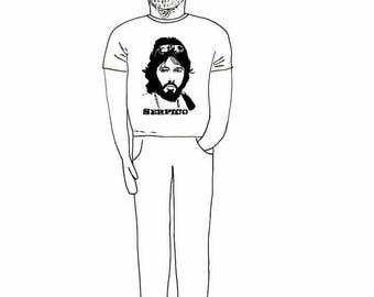 nEW dESIGN***Sew your own JEREMY CORBYN in Serpico T-shirt doll//labour//kit