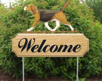 Beagle Welcome Garden Stake