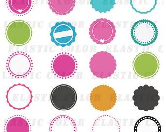 Circle monogram frame svg  pack - Monogram frame digital download svg,  dxf, eps, png