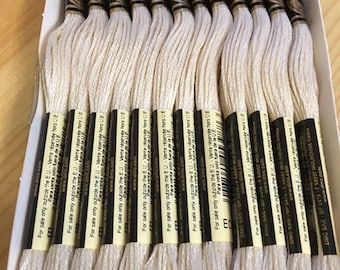 DMC Ecru Embroidery Floss 2 Skeins 6 Strand Thread for Embroidery Cross Stitch Needlepoint Sewing Beading