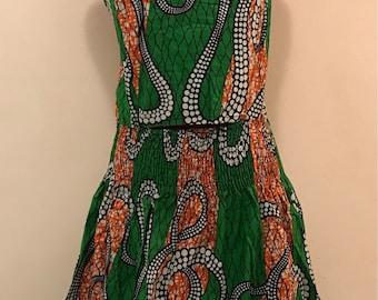Ankara spaghetti strap dress