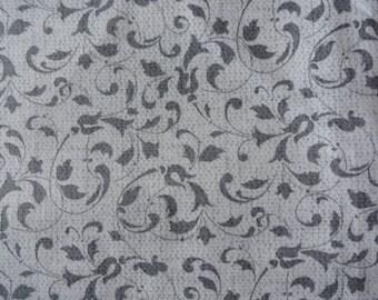 Grey Vines Steering Wheel Cover