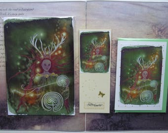 Path Weaver Notebook, Handmade Bookmark and Card Gift Set
