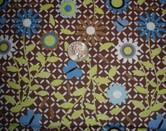 END of BOLT - XOXO the Cat trellis in brown - 1 yard 29 inches