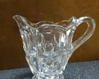 Glass Creamer/Milk Jug/Vintage