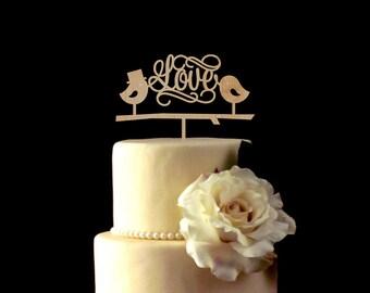 Love Cake Topper,Love Birds Cake Topper,Wedding Cake Topper,Personalized Cake Topper,Wedding Decoration,Custom Cake Topper