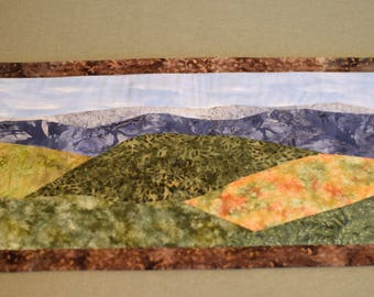 Early Autumn in Appalachia -Table Runner - Wall Tapestry - Wall Hanging - Wall Quilt