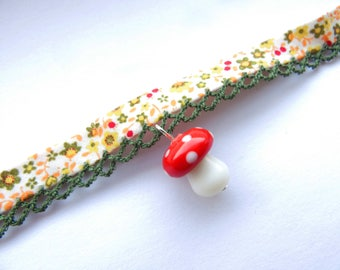 Floral Toadstool Choker