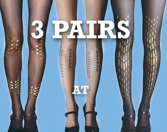 Sale! Gifts for her, Save 15% off on 3 pairs of your choice, sheer tights, Opaque tights S-M, L-XL, gift for her, gift ideas