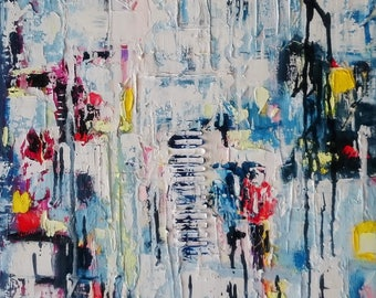 Spring abstract< original abstract painting with deep texture detail