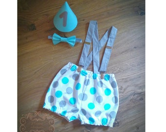 1st Birthday Cake Smash Outfit Baby Boy Diaper Cover