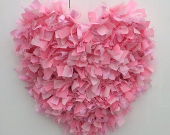 Hand Crafted Rag Heart 47cm **Can be made in your choice of colours**