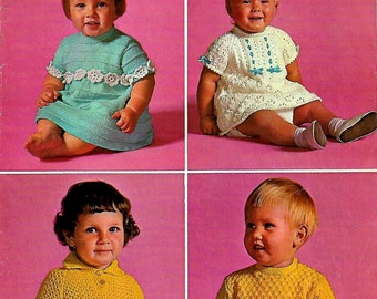 PATONS SC108 Vintage Baby/Children's Knitting Pattern Booklet