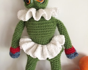 Doll Crochet Pattern, Crochet Amigurumi Pattern, Toy Pattern, Holiday Monster, Monster Doll