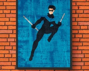 Minimalism Art - Nightwing Print
