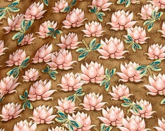 Beige Japanese patchwork, Kimmidoll Yuna by Quilting treasures fabric