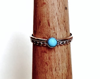 Turquoise ring // Stacking ring // Sterling Silver // Minimalist Jewelry // Stacking ring set