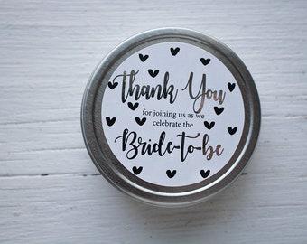 Silver Bridal Shower Favor - High Tea Wedding Shower - Bling - Shower Favour - Tea Party - Sparkle - Glitter - Metal - Thank You Gift
