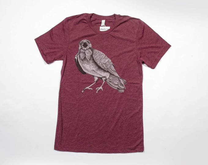 Squawking Crow Unisex Triblend Tee