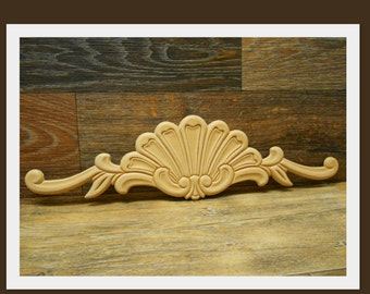 "Onlay Applique- Embossed Applique  - Decorative Onlay -15 7/8""W x 4 1/4""H x 1/8""D- #E29s"