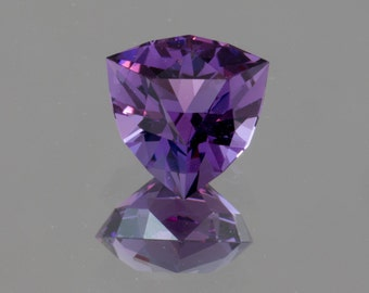 2.25 carat Amethyst trilliant gemstone from Brazil - faceted in America.