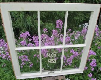 28 x 27 Vintage Window sash  6 pane frame from 1979