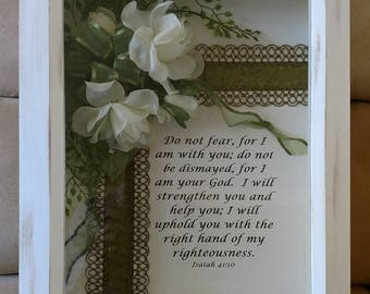 """Handcrafted Inspirational Shadow Box Wall Art, 11 x 14"""""""