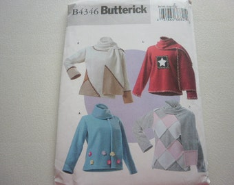Pattern Ladies Top and Scarf Set - Size L-XL - Butterick 4346