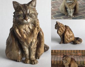 Custom Cat Sculpture | 3D Printed & Hand-painted | Pet Portrait Cat Figurine Statue Memorial | Any Breed | Cat Lover Gift | Cat Portrait