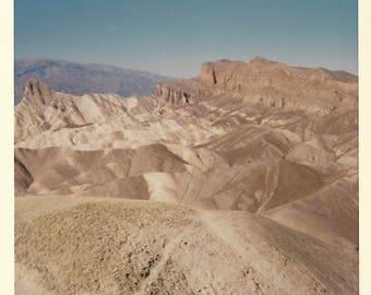 "Vintage Snapshot ""Barren Landscape"" Kodacolor Print 1966 Abstract Artistic Color Snapshot Found Vernacular Photo"