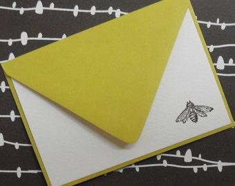 Little bee noteset embossed