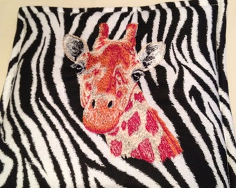 Giraffe Embroidered Pot Holder