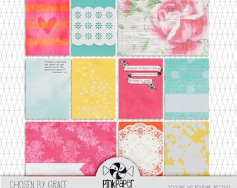 Printable Bible Journaling Kit pink - Scripture Cards - Illustrated Faith cards for Digital Scrapbooking, Faithbooking & Christian Planners