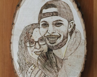 Woodburned Portrait