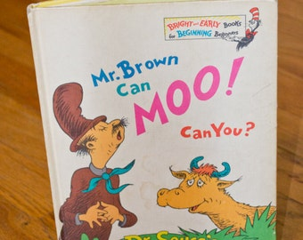 Dr. Seuss- Mr. Brown Can Moo! Can You?- 1970 First Edition
